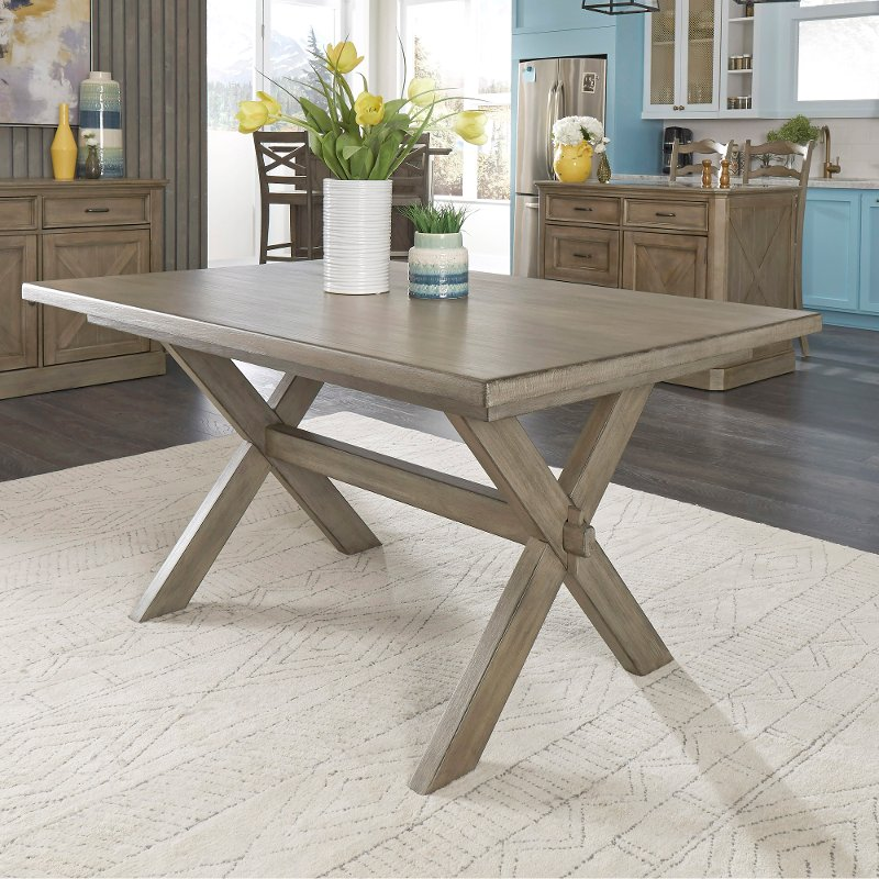 Rustic Gray Dining Room Table, Mountain Lodge Dining Room Furniture