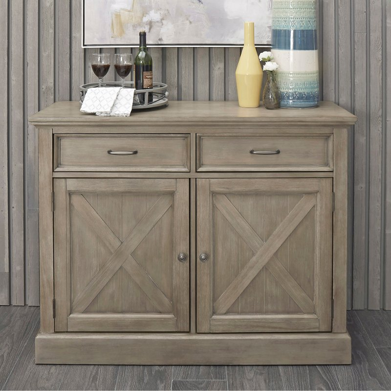 Rustic Gray Dining Room Buffet, Mountain Lodge Dining Room Furniture