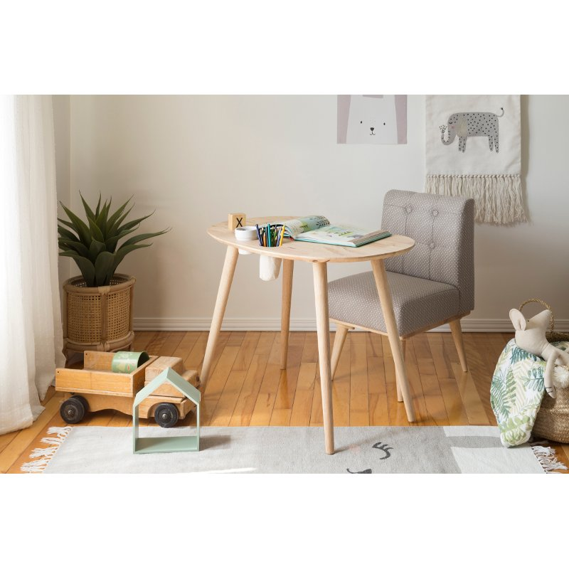 Natural Wood And Gray Kids Table And Chair Sweedi Rc Willey Furniture Store
