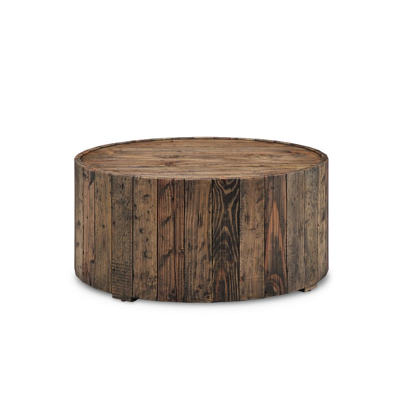 Reclaimed Wood Round Coffee Table With, Round Reclaimed Wood Coffee Table
