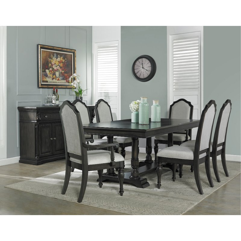 Traditional Dark Brown 5 Piece Dining Room Set Timeless Rc Willey Furniture Store