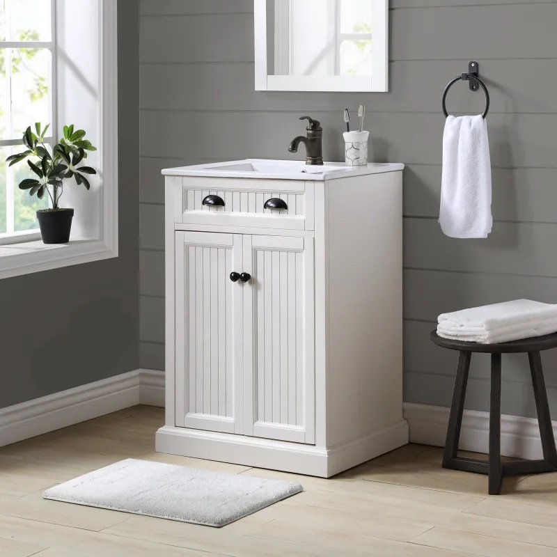 24 Inch White Bath Vanity Seaside Rc Willey Furniture Store