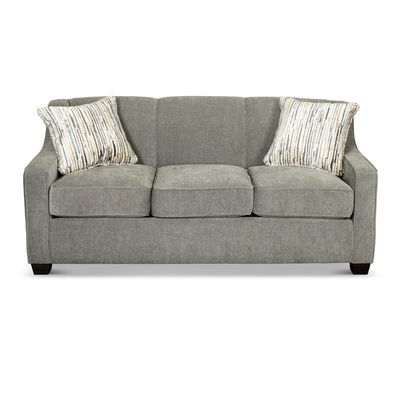 Cement Gray Convertible Full Sleeper, How To Dispose Of A Sleeper Sofa