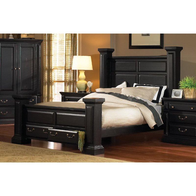 Torreon Black Queen Storage Bed