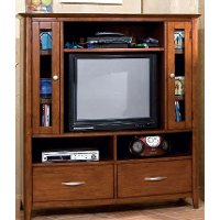 Brown Classic Contemporary Media Cabinet - Village Craft