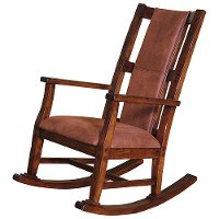 Wood & Microfiber Rocking Chair - Sedona Collection