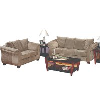 Sage Microfiber 2 Piece Room Group Rc Willey Furniture Store