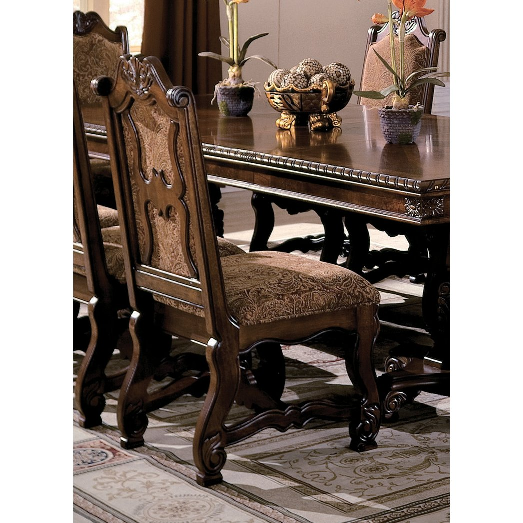 Dining Chair Clearance: Traditional Cherry Upholstered Dining Room Chair