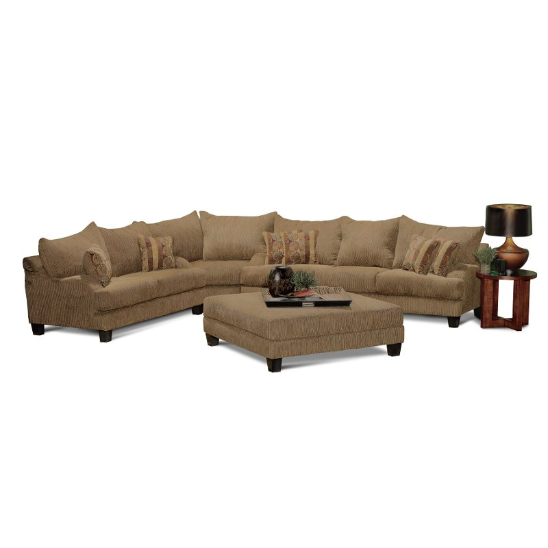 Laguna brown upholstered 3 piece sectional for 3 piece brown sectional sofa