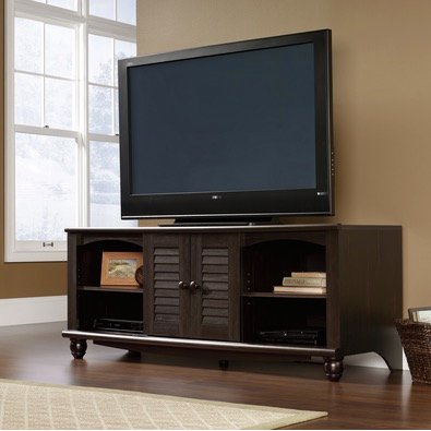 62 Inch Antique Black TV Stand Harbor View RC Willey Furniture Store