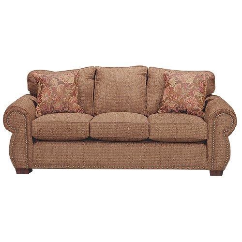 Roomstore Furniture Store: Spice Brown Casual Traditional Sofa - Southport