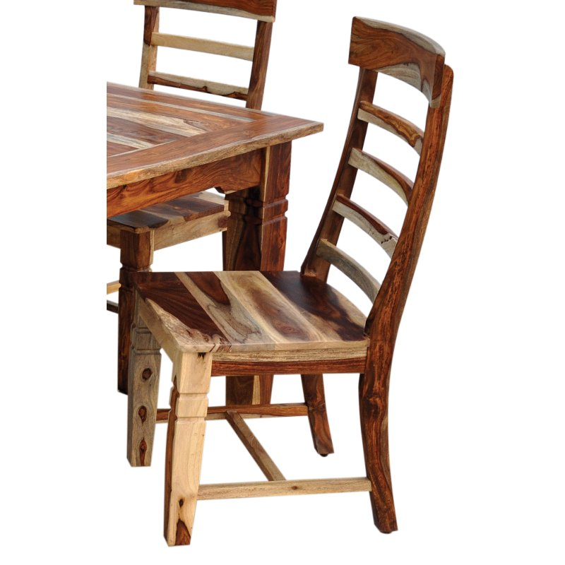 Tahoe natural wood side chair for Natural wood dining chairs
