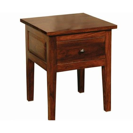 Rc Willey Draper: Antique Classic Brown End Table - Vienna
