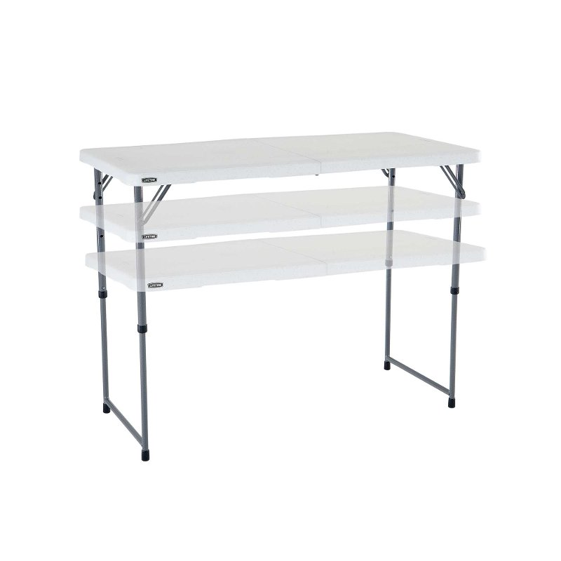 Lifetime 4 Foot Fold In Half Adjustable Height Table | RC Willey Furniture  Store