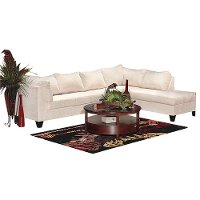 Cream Microfiber 2 Piece Sectional Rc Willey Furniture Store