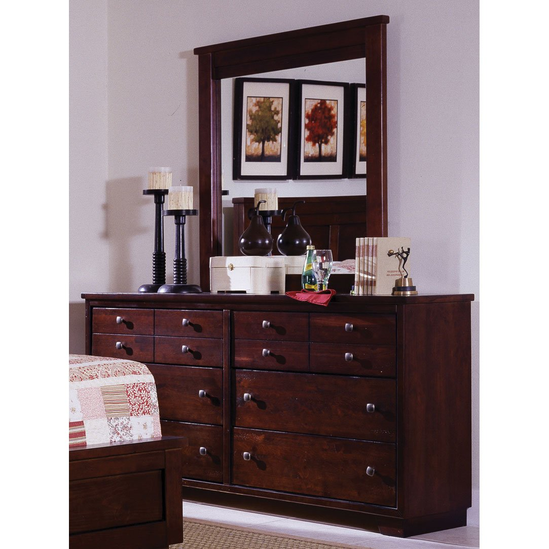Espresso brown contemporary 6 piece california king bed - Espresso brown bedroom furniture ...