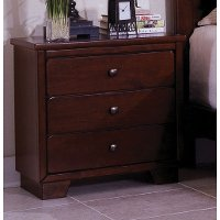 Diego espresso brown classic contemporary nightstand rc - Espresso brown bedroom furniture ...