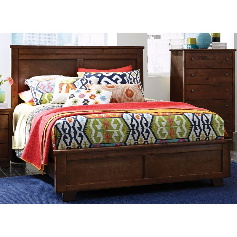 Diego espresso brown classic contemporary queen bed - Benefits of contemporary queen bed ...