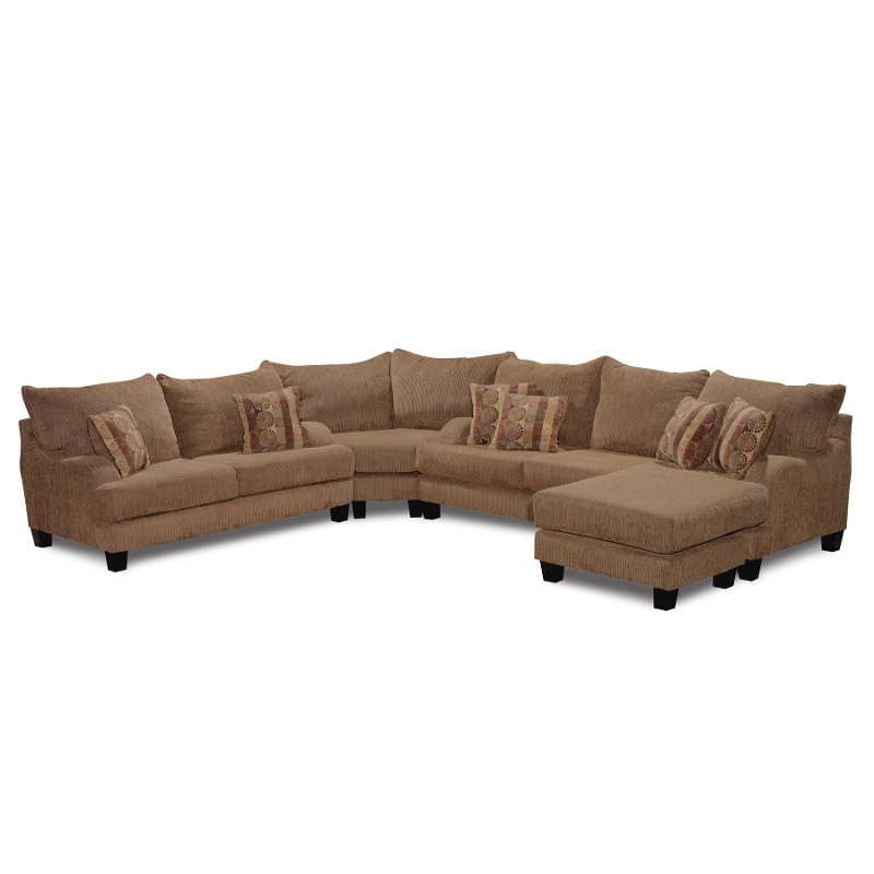Laguna Brown Upholstered 3 Piece Sectional