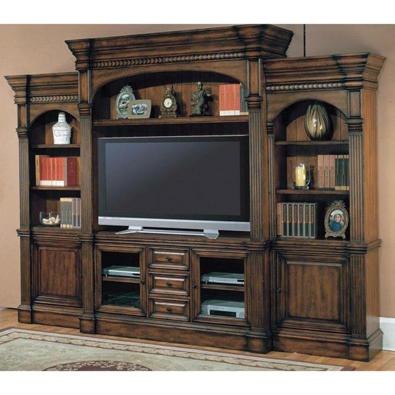 parker house 4 piece entertainment wall unit. Black Bedroom Furniture Sets. Home Design Ideas