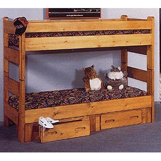 Cinnamon Rustic Pine Twin Over Twin Bunk Bed Palomino Rc Willey