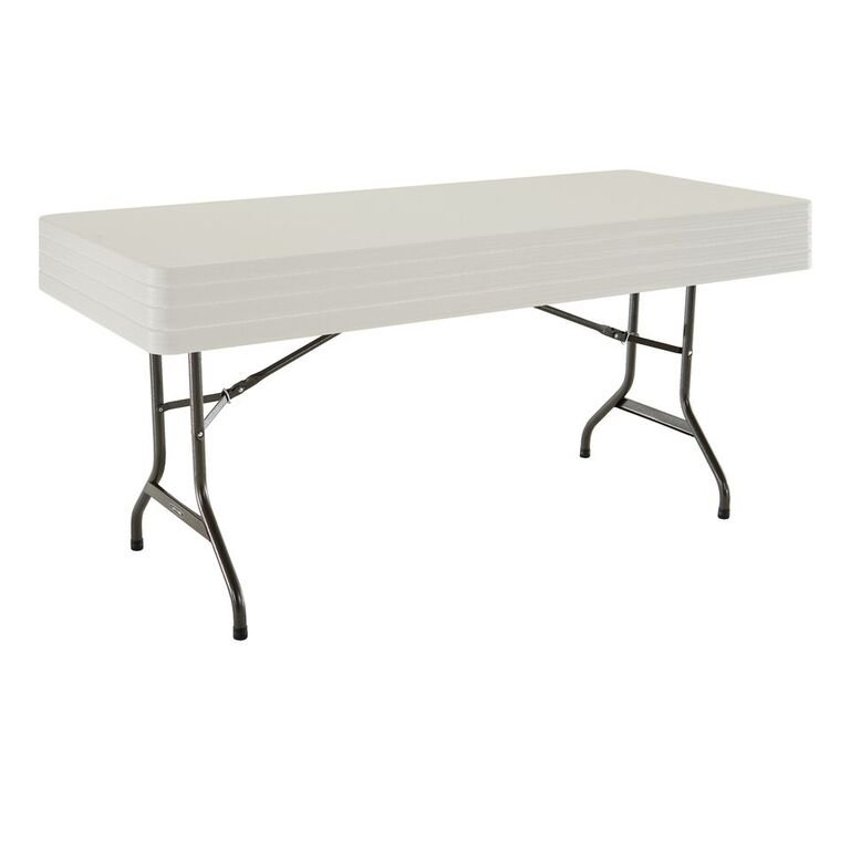 Lifetime Products Almond 4 Pack 8 Ft Folding Banquet Tables