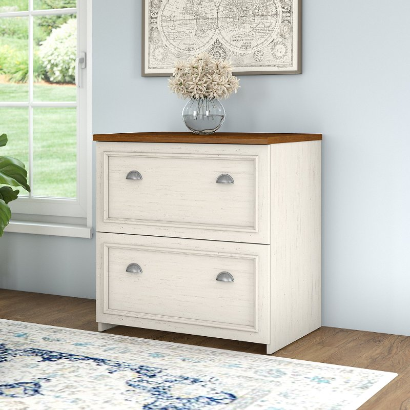 Antique White 2 Drawer Lateral File Cabinet - Fairview - Antique White 2 Drawer Lateral File Cabinet - Fairview RC Willey