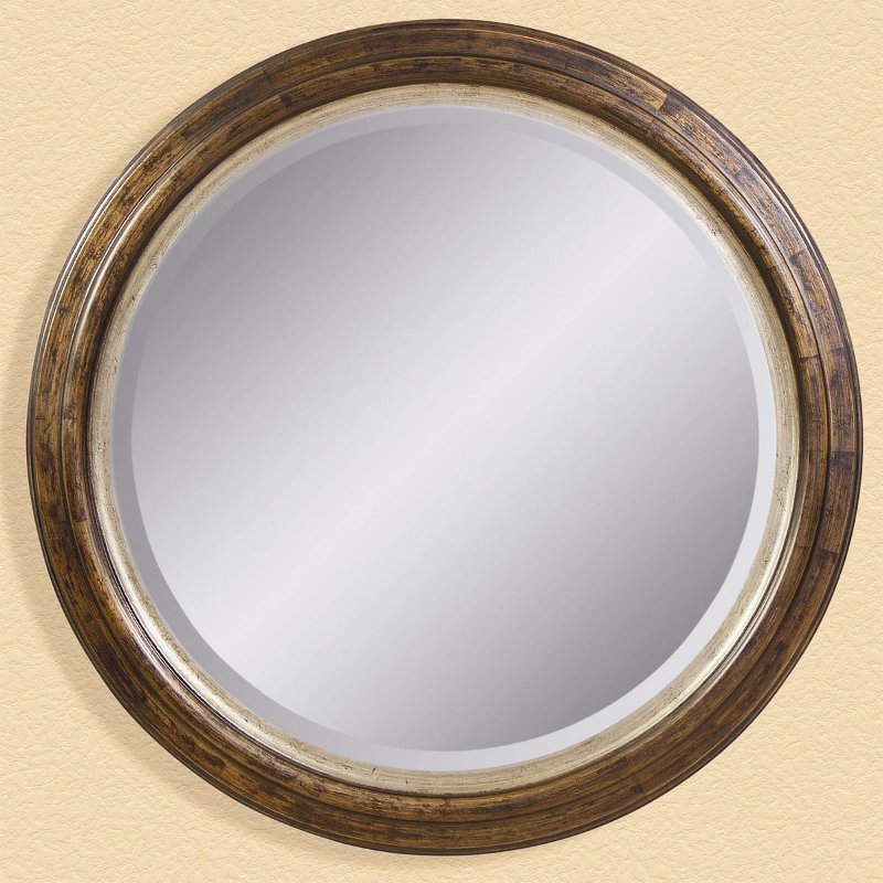 Round wood mirror rcwilley image1 for Round wood mirror