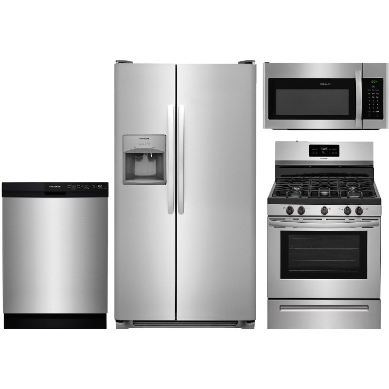 Frigidaire 4 Piece Gas Kitchen Package Stainless Steel