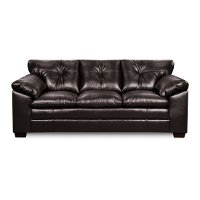90  Black Upholstered Sofa