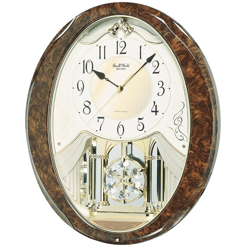 Rc Willey Slc Ut: Brown And Gold Snowflake Legend Musical Wall Clock