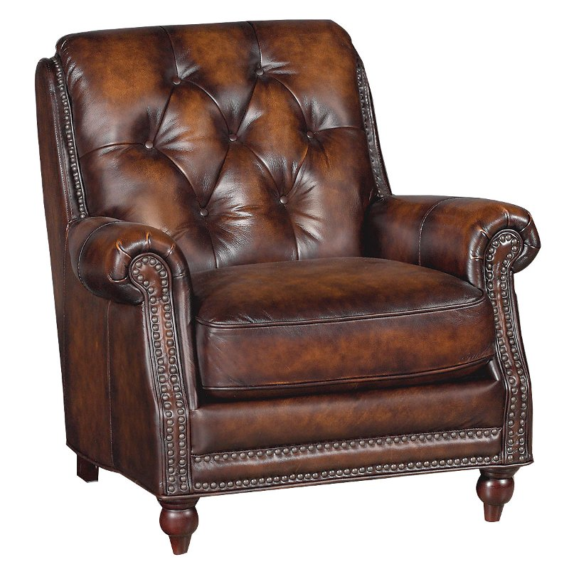 Westbury Brown 34 Quot Brown Leather Chair