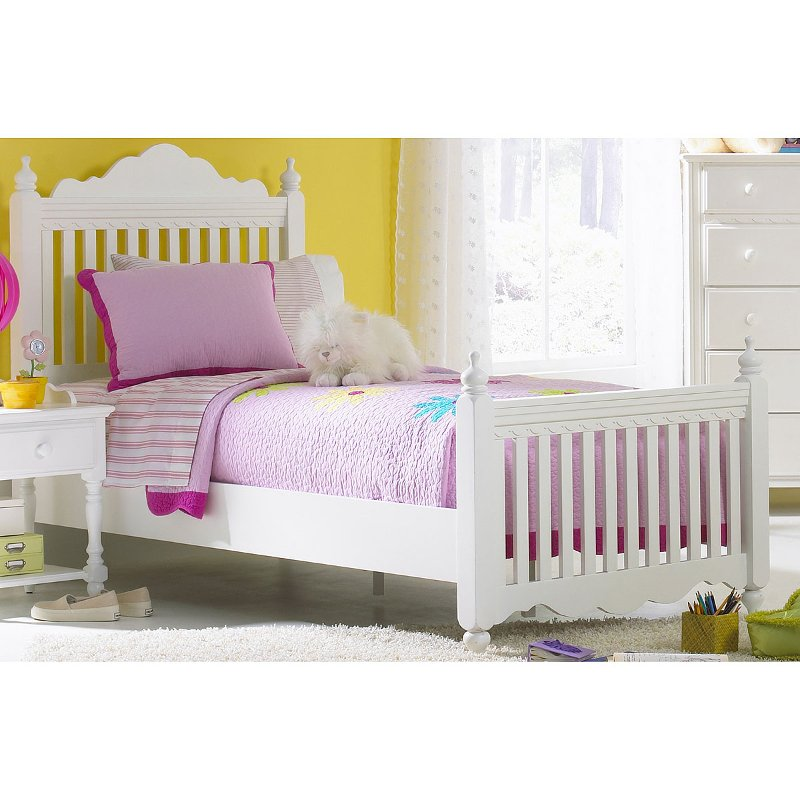 White Classic Twin Bed Lauren Rc Willey Furniture Store