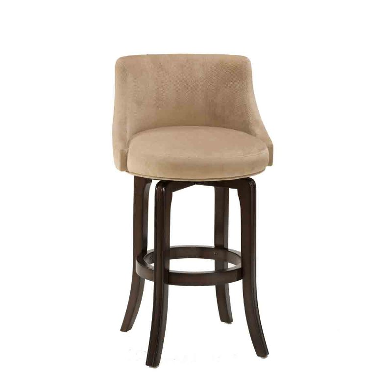 Cherry Kahki 25 Inch Swivel Counter Height Stool Napa Valley Rc