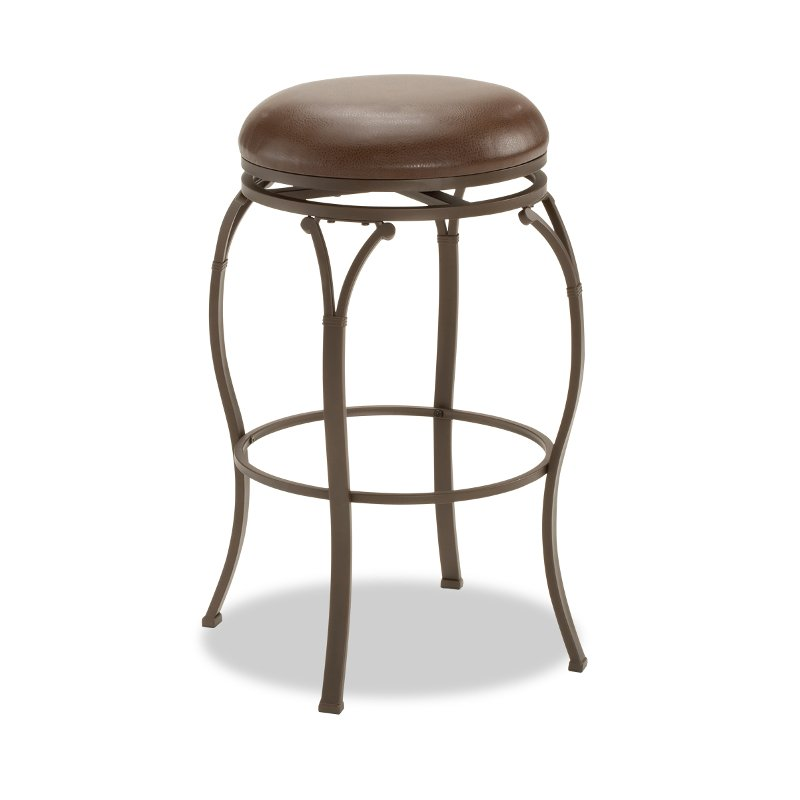 Brown 24 Inch Swivel Counter Stool Lakeview Rc Willey Furniture