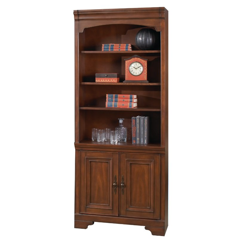Cherry Brown 2 Door Bookcase   Richmond Collection | RC Willey Furniture  Store