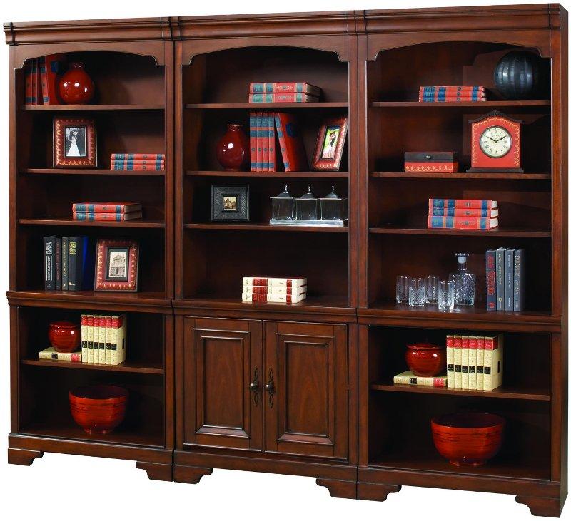 Strange 3 Piece Cherry Brown Bookcase Wall Richmond Creativecarmelina Interior Chair Design Creativecarmelinacom