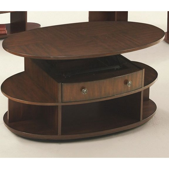 Lift Top Oval Coffee Table