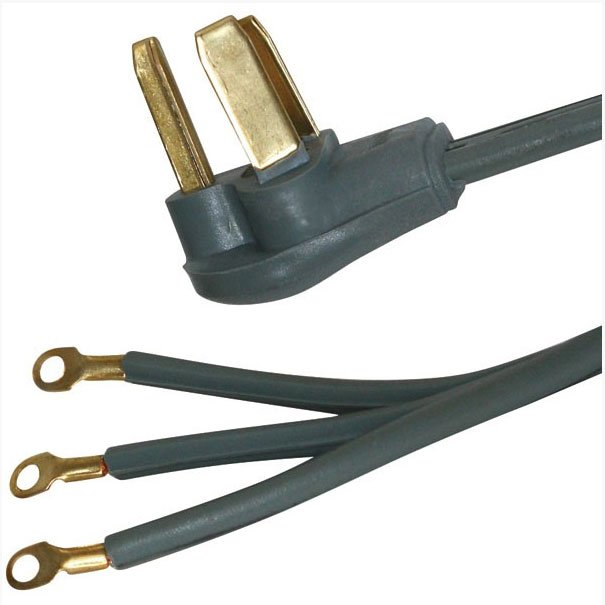 CERTIFIED APPLIANCE 77454 3-Wire Range Cord (40A, 4 ft) | RC Willey ...