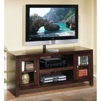 60 Inch Oak Chocolate Brown Tv Stand Del Mar Rc Willey Furniture Store