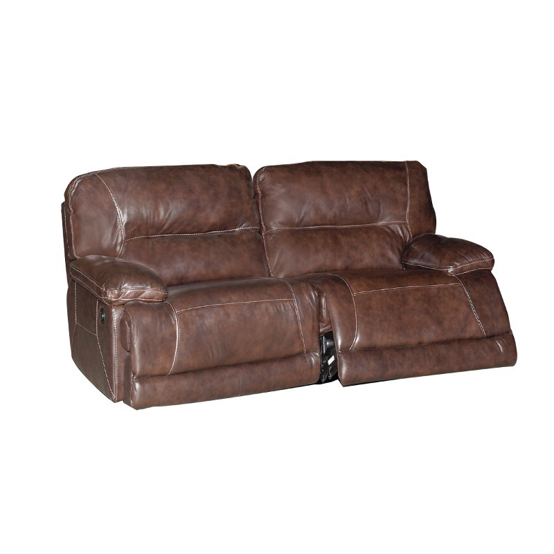 Dylan 86 Dark Brown Leather Match Reclining Sofa