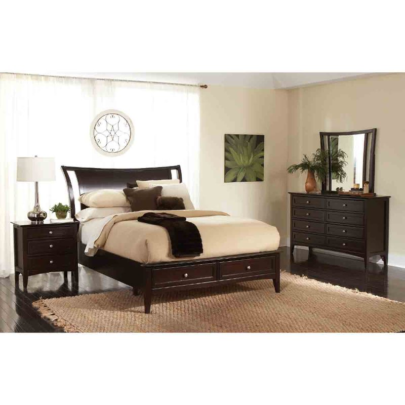 Java brown contemporary 4 piece king bedroom set - Porter contemporary 6 piece bedroom set ...
