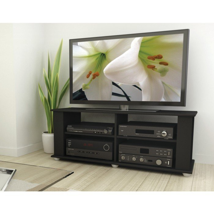 Black Modern 50 Inch Tv Stand Fillmore Rc Willey Furniture Store