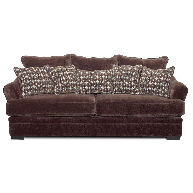 Acropolis 101 Chocolate Brown Upholstered Sofa
