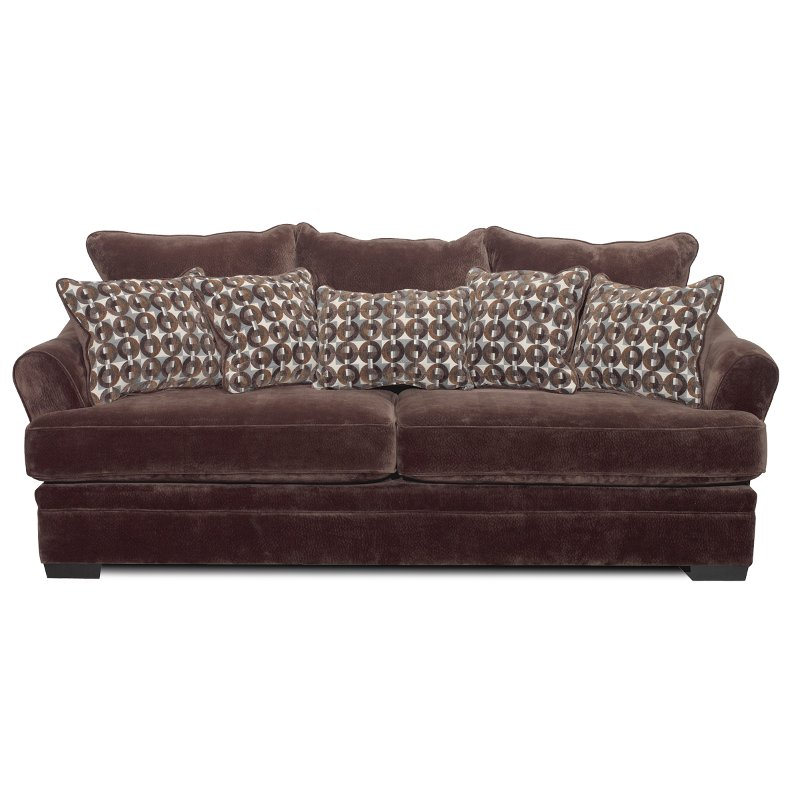 Bon Casual Contemporary Chocolate Brown Sofa   Acropolis | RC Willey Furniture  Store
