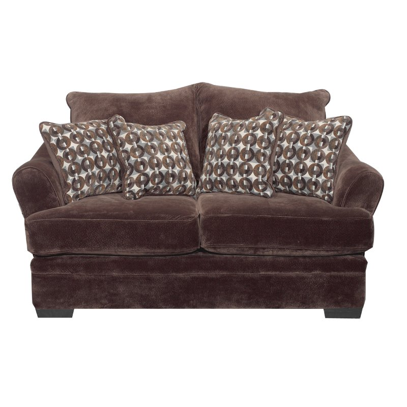 Acropolis 75 Chocolate Brown Upholstered Loveseat