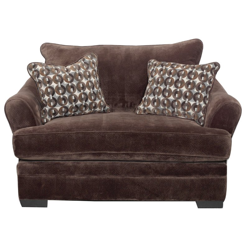 Casual Contemporary Chocolate Brown Chair   Acropolis