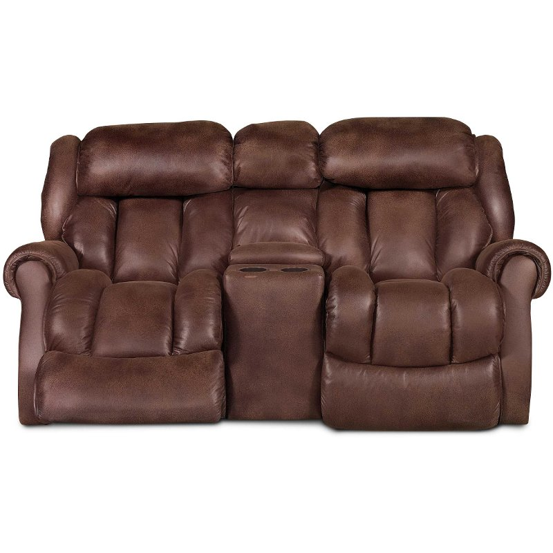 blake 88 espresso brown microfiber rocker recliner loveseat