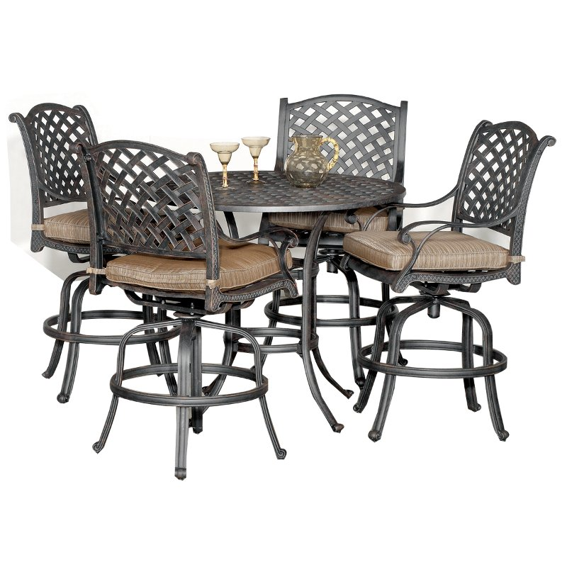 5 Piece Counter Height Outdoor Patio Set   Moab