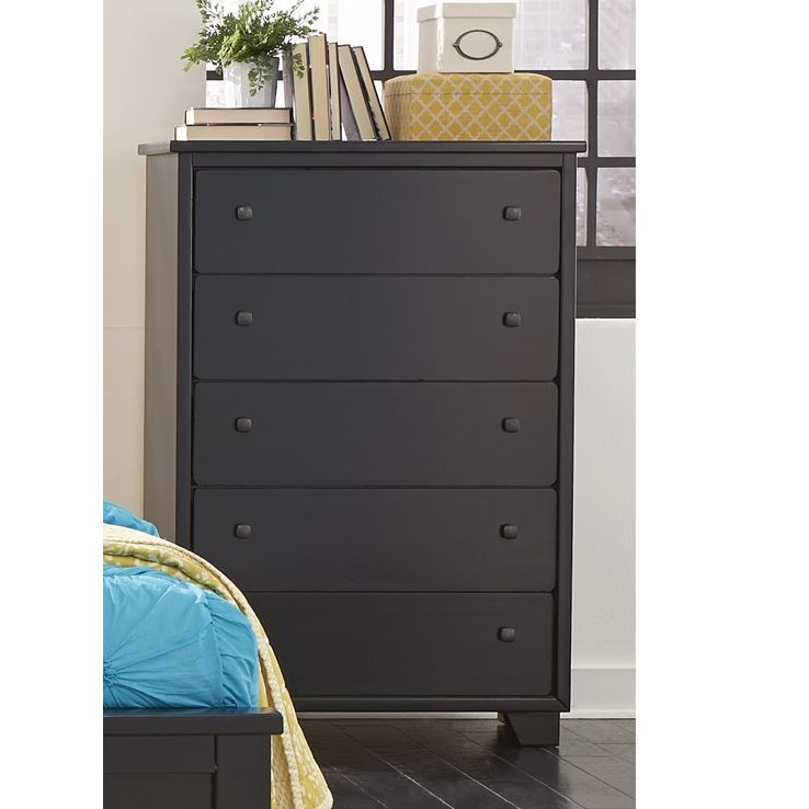 Contemporary Black Chest of Drawers - Diego